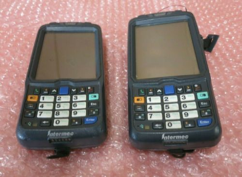 2 x Intermec CN50 Rugged Mobile Handheld Computer 1D Barcode Scanner